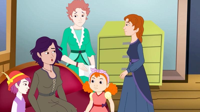 Bốn mẹ con nghe tin bố bị thương ở mặt trận.