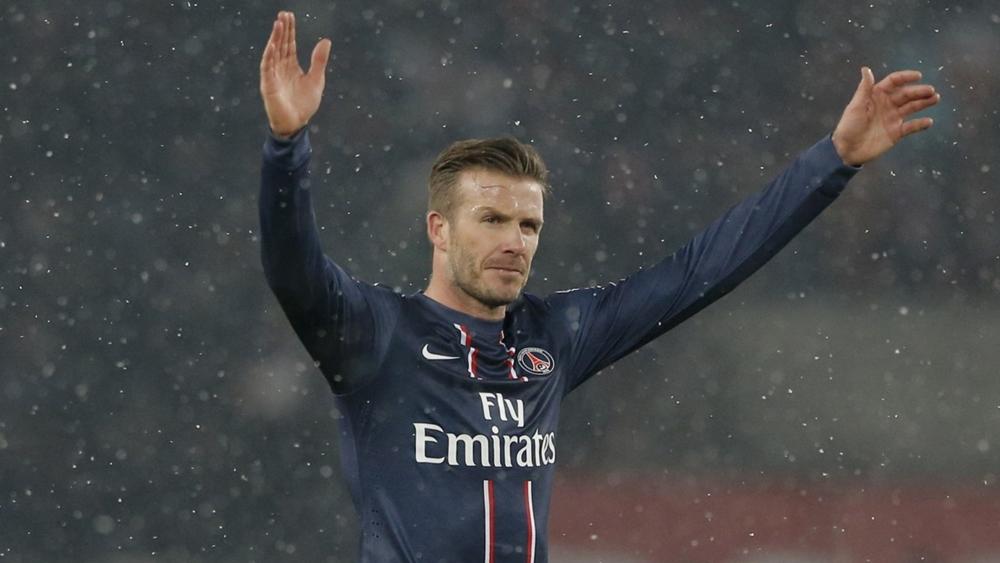 Tiền vệ tài hoa David Beckham giã từ sự nghiệp cầu thủ trong màu áo PSG.