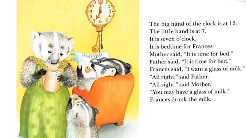 Đã đến giờ bạn Frances đi ngủ.