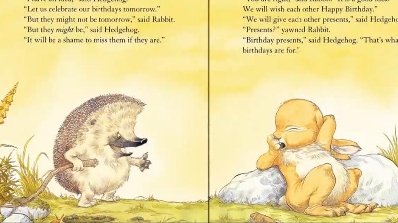 Nhím và thỏ quyết định tổ chức sinh nhật cùng nhau.