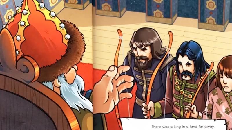 Nhà vua hạ lệnh ba chàng hoàng tử đi tìm vợ cho mình.