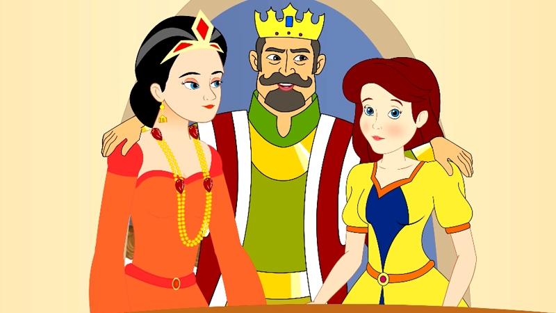 Cả gia đình nhà vua hạnh phúc vui vẻ.