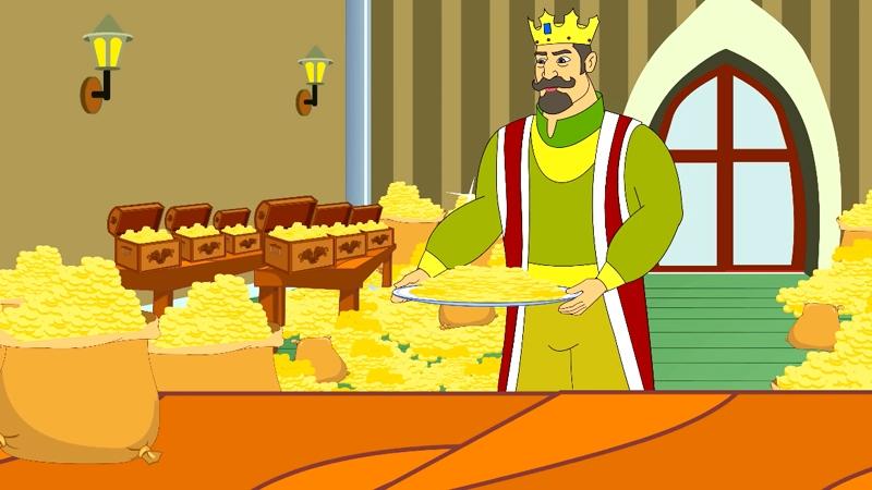 Nhà vua rất nhiều tiền vàng bởi có một con lừa thần kỳ.