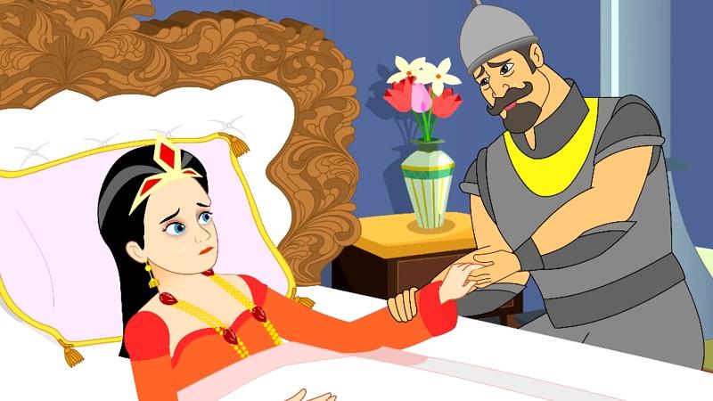 Hoàng hậu ra đi để lại mong ước nhà vua sẽ lấy vợ mới xinh đẹp hơn mình.