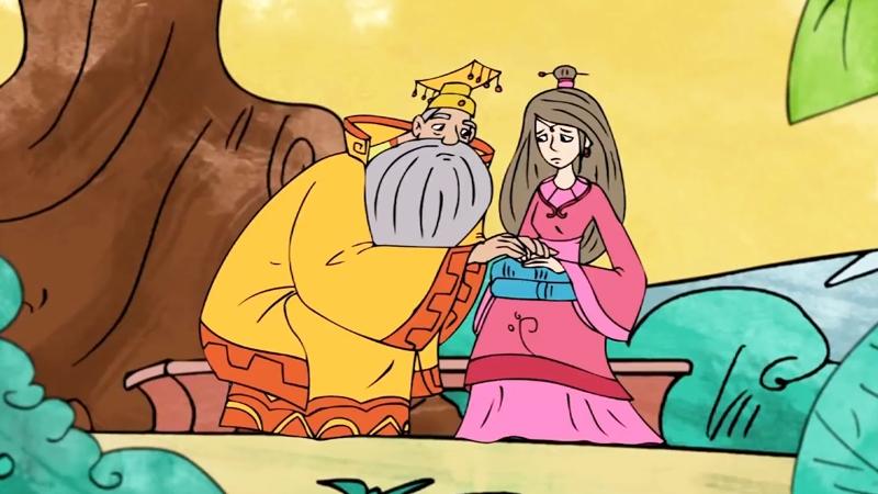 Vua cha hỏi chuyện con gái yêu vì sao lại buồn.