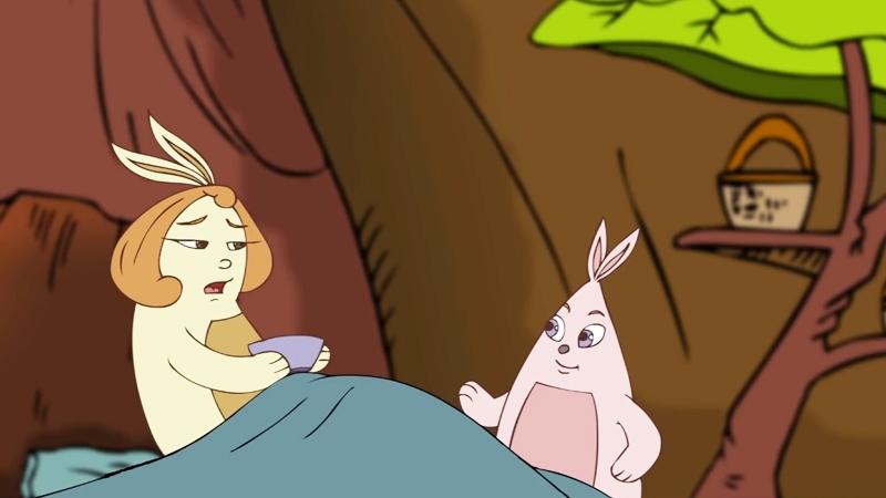 Mẹ thỏ bị ốm vì thời tiết thay đổi từ đông sang hè.