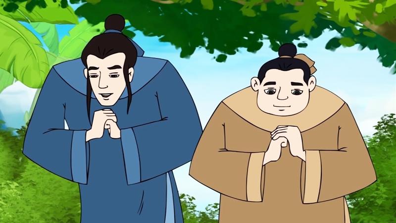 Hai con của Thủy thần xin học chữ thầy Chu Văn An.