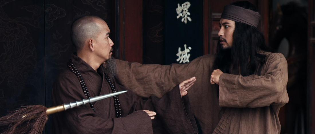 Minh Thuận trong vai sư phụ của Nguyên Vũ.