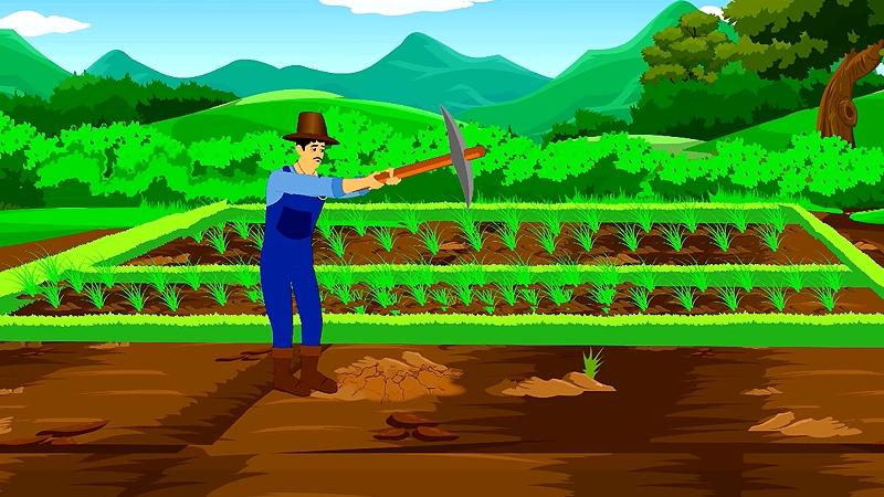 Rama trồng cây sau khi vứt bỏ chiếc bình ma thuật.