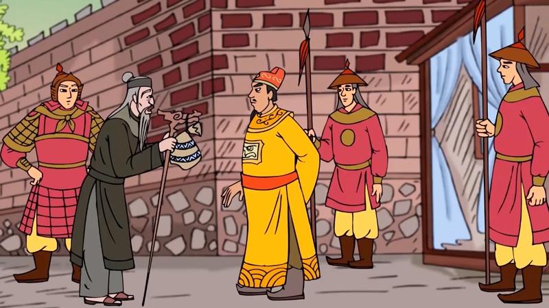 Ông cụ và Hoàng thượng trao đổi và mua bài học vô giá.