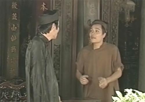 Phú ông cùng tên hầu trong tiểu phẩm hài 'Giải Oan Thị Mầu'