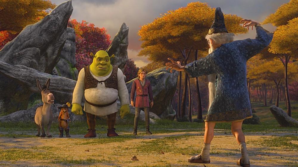 Trước phút lâm chung, Đức vua Harold đã giao trọng trách ghánh vác giang sơn cho chàng rể chằn tinh Shrek.