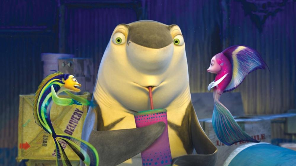 Một phân cảnh hài hước khác trong phim ''Shark Tale''.