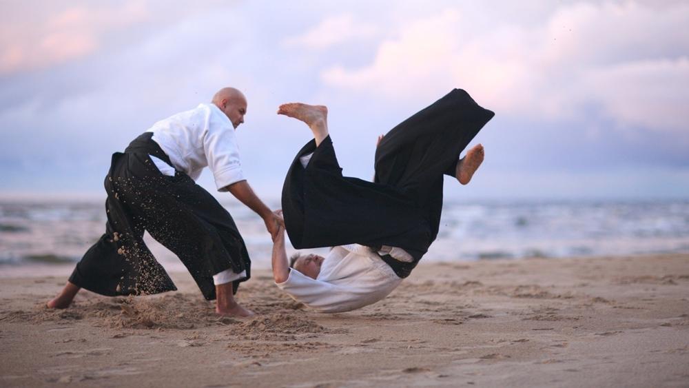 Aikido không chú trọng vào các đòn tấn công đối phương, mà nó sử dụng lại chính lực của đối phương để chống chế lại họ hoặc ném họ đi.