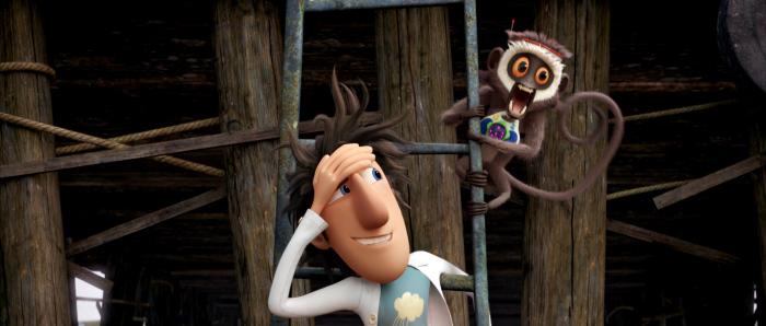 Nhà sáng chế Flint Lockwood và chú khỉ Steve.