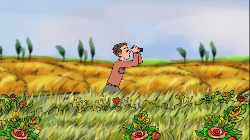 Cậu bé bắt đầu chụp mọi cảnh vật xung quanh.