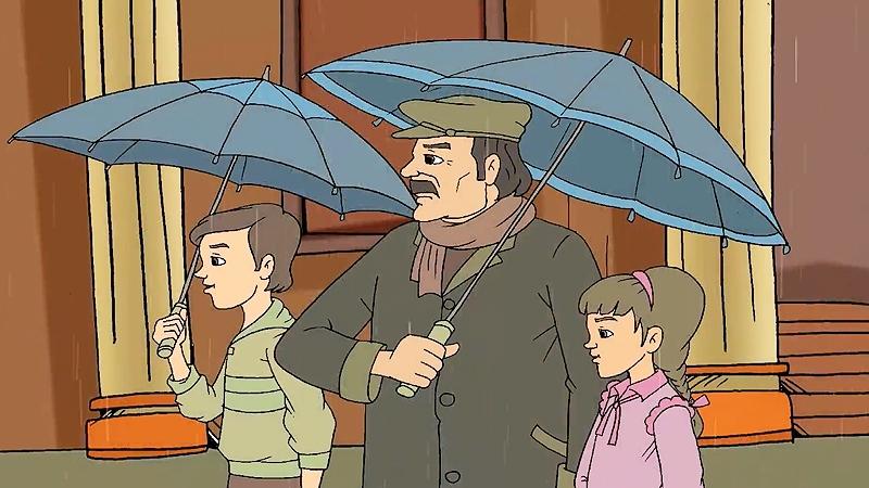Ba ông cháu đi chợ chuẩn bị mua đồ gói bánh chưng Tết.