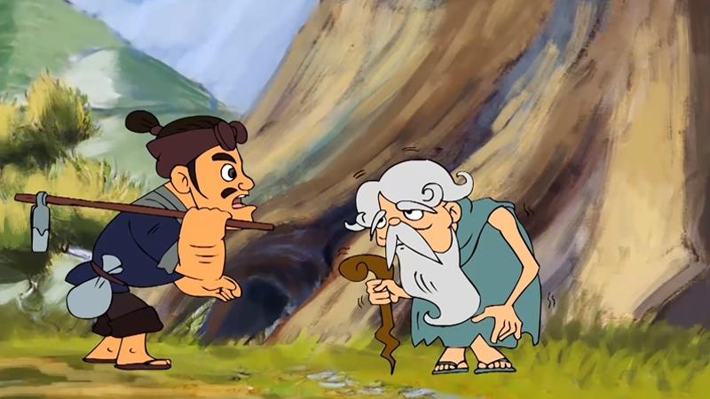 Trên đường anh nông dân gặp một già ăn xin nghèo đói.