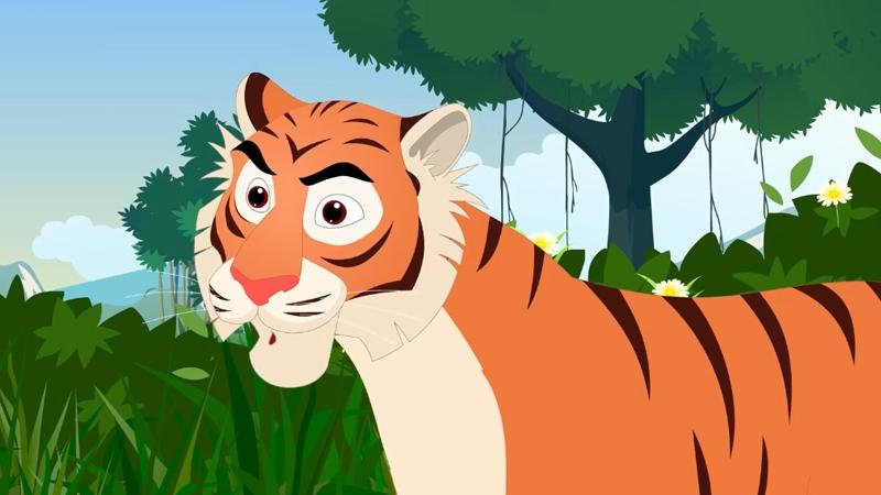 Con hổ đang rình chờ thời cơ đến.