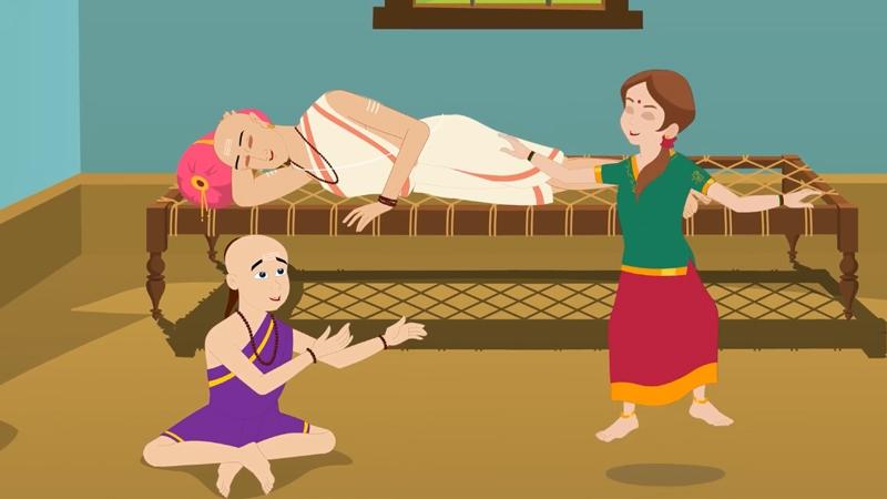 Bất chấp con cái chơi đùa ồn ào mà Brahmin vẫn ngủ được.
