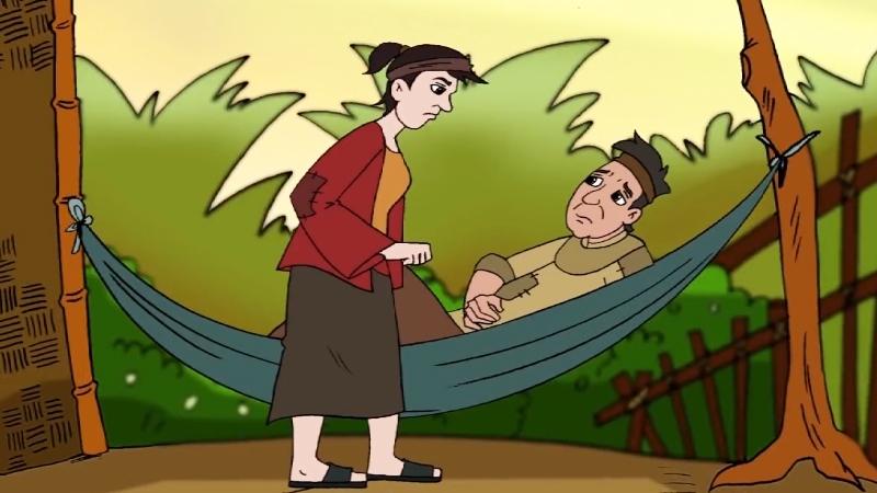 Vợ giục anh Tý đi trồng mía để kiếm tiền.