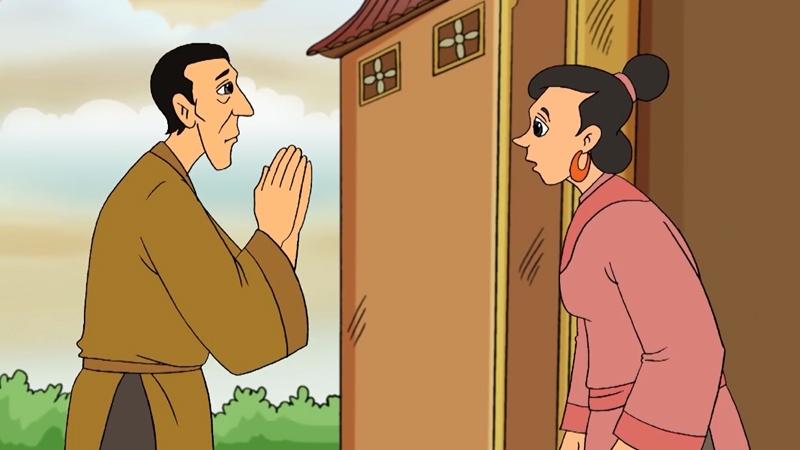 Tên trộm giả làm thầy tu đi quyên góp cho chùa nhưng thực chất là nói dối để kiểm ăn.