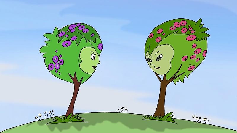2 chị cây xinh đẹp đang nói chuyện với nhau.