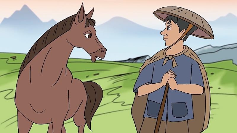 Ngựa liền âm mưu với con người đuổi đàn hươu đi.