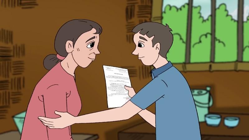 Cậu con trai vui mừng báo tin trúng tuyển đại học cho mẹ.