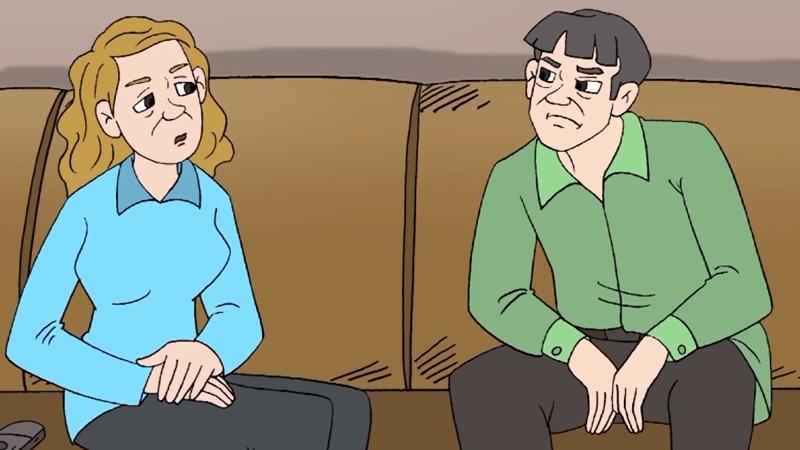 Hai vợ chồng anh cả đang họp bàn về việc cha đang trong bệnh viện.