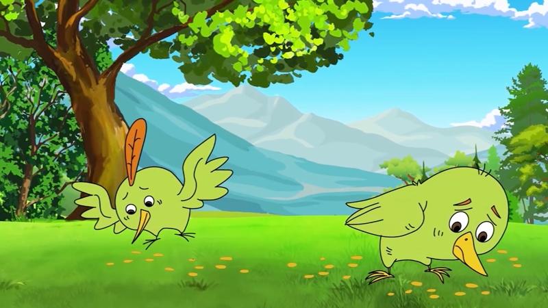 Những chú chim ăn hạt thóc của hai vợ chồng.