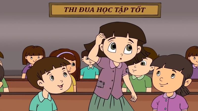 Hoa được cô giáo cử đi thi học sinh giỏi văn.