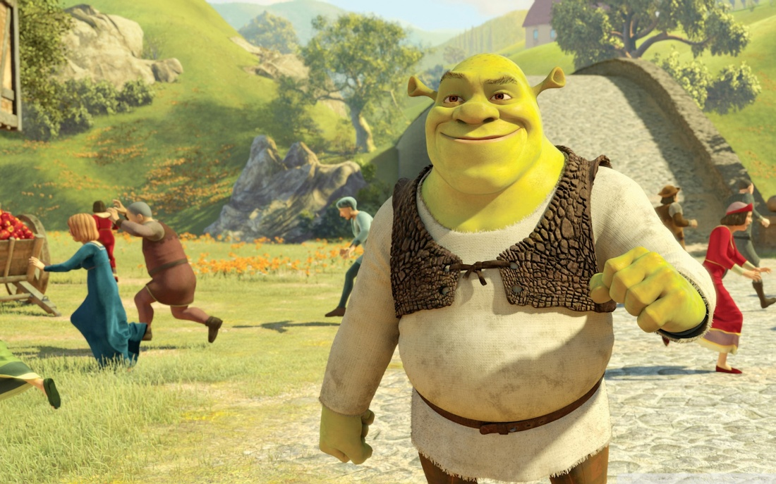 Một cảnh trong phim ''Shrek Forever After''.
