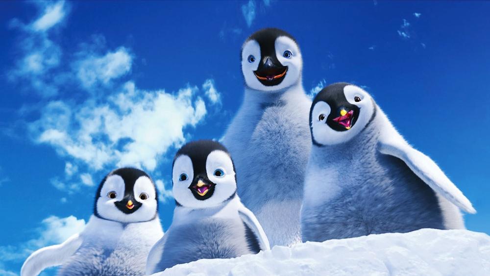Giữa một bầy đàn cánh cụt nhảy cực siêu, cậu nhóc Erik lại chẳng mảy may hứng thú.