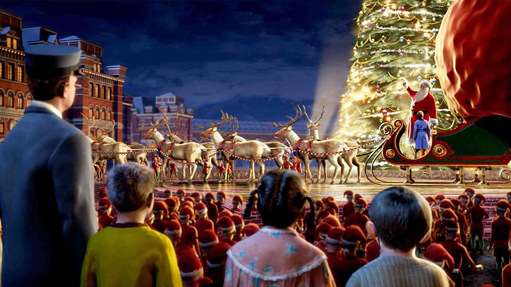Chuyến xe đem Billy và những đứa trẻ may mắn khác cùng ông già Noel đến thăm Bắc Cực