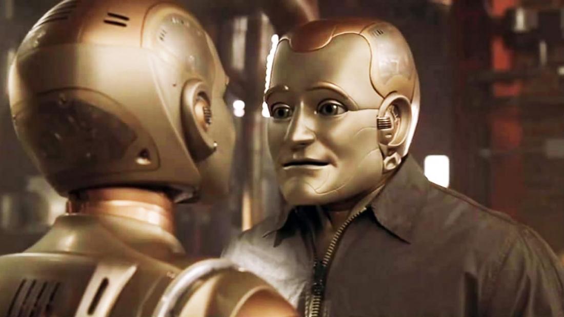 Andrew Martin là một người máy có ngoại hình giống hệt người.
