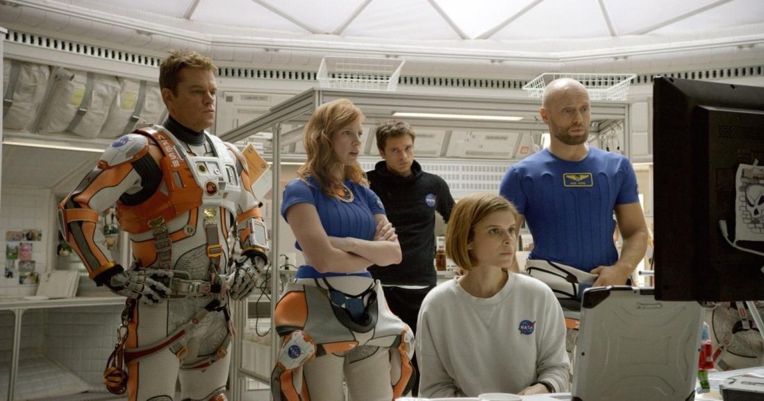 Mark Watney cùng đồng đội trong phi hành đoàn Hermes.