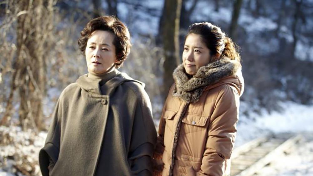 Gia đình Jae In ở một sườn núi đẹp trên tỉnh Kangwon.