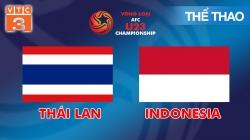 Trực Tiếp Vòng Loại U23 Châu Á: Thái Lan - Indonesia