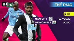 Man City - Newcastle (H1) Premier League 2019/20: Vòng 34