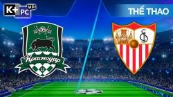 Krasnodar - Sevilla (H1) Champions League 2020/21: Vòng Bảng
