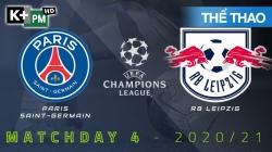 PSG - RB Leipzig (H1) Champions League 2020/21: Vòng Bảng