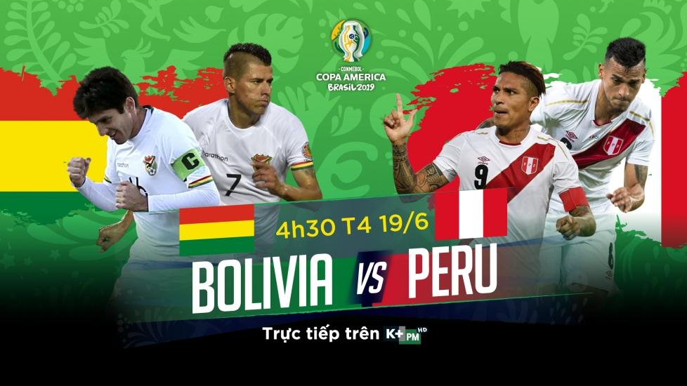 Trực Tiếp Copa America 2019: Bolivia vs Peru