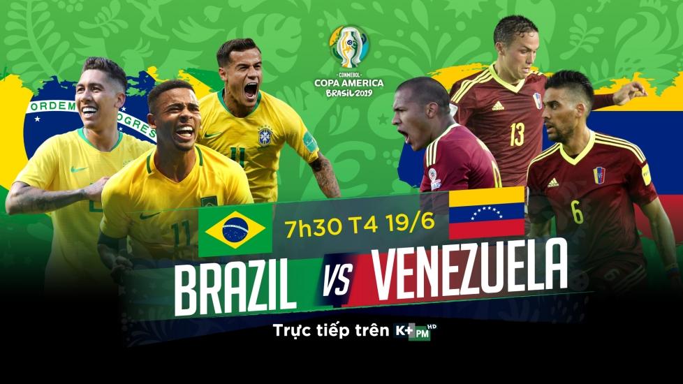 Trực Tiếp Copa America 2019: Brazil vs Venezuela