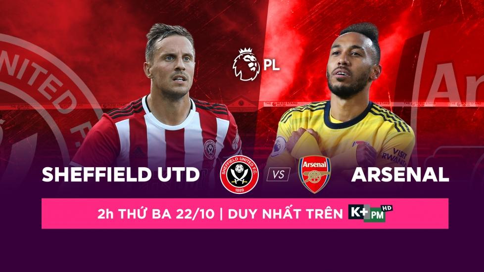 Trực Tiếp Vòng 9 Premier League 2019/20: Sheffield Utd vs Arsenal