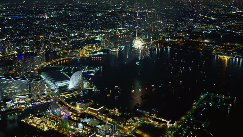 [4K] Cảnh Đẹp Về Đêm Ở Yokohama - Nhật Bản