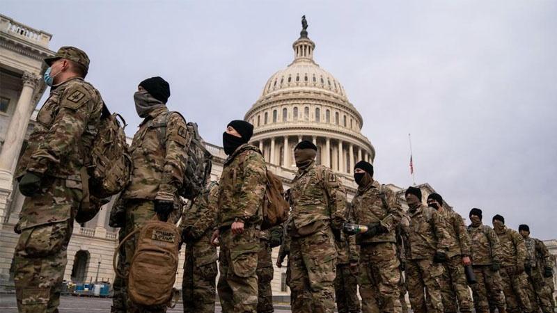 Mỹ: Lực Lượng Vệ Binh Quốc Gia Dàn Quân Tại Điện Capitol
